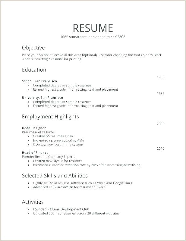 Indian Simple Resume Format Pdf Huroncountychamber Com
