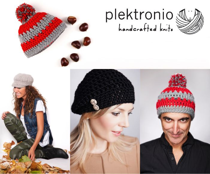 Handmade buttons or fluffy pom poms, you can embellish your hat any way you like! http://www.indiegogo.com/projects/plektronio/x/4721624