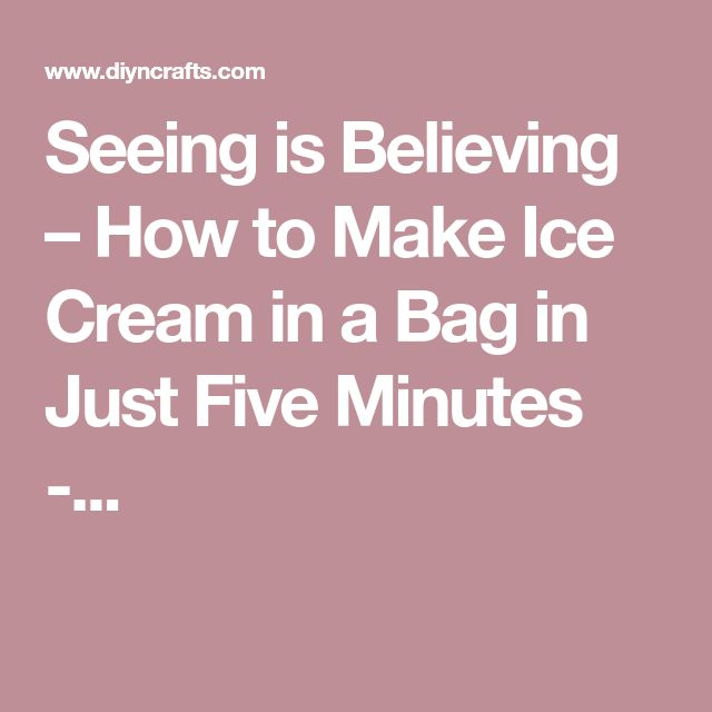 how to make ice cream in five minutes