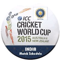India match schedule for ICC Cricket Worldcup 2015  http://www.cricwindow.com/icc-worldcup-2015/india-match-schedule.html