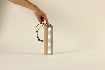 LANTERN  multipurpose LED light design by CHRISTOPHER SANTERRE  machined solid oak made with TheFabFamily