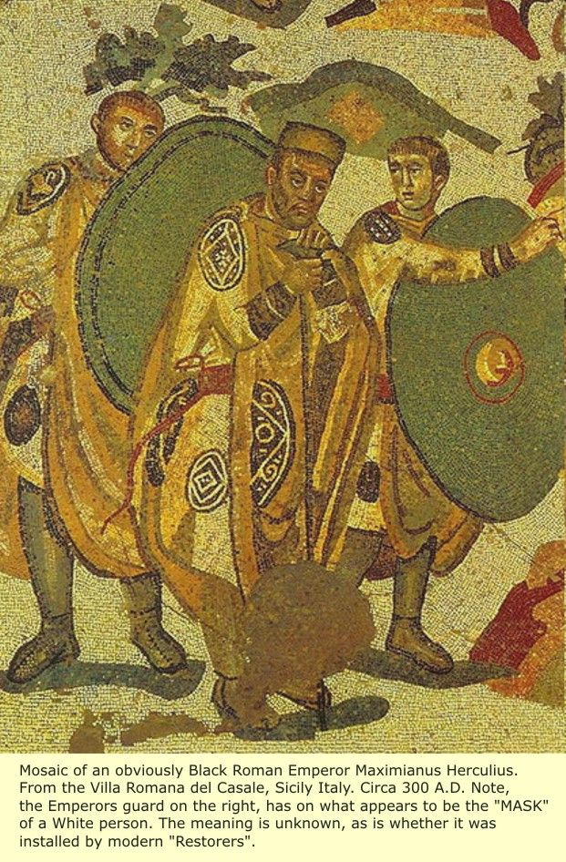 Etruria: The Black Etruscans, The Black Phoenicians, The Latins, The Romans.  Roman Emperor Maximianus Herculius from Sicily italy 300a.d.