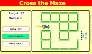Cross the Maze is a free math website for younger children. It teaches the basic idea of giving direction using turns. There are lots of mazes. Good fun. There is an iPad App for just $0.99.