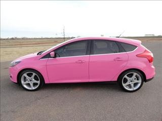 2012 Pink Ford Focus Titanium http://www.iseecars.com Pink Cars, Pink SUV, Pink van, Pink jeep