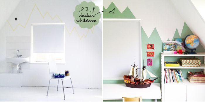 vlakken op muur schilderen