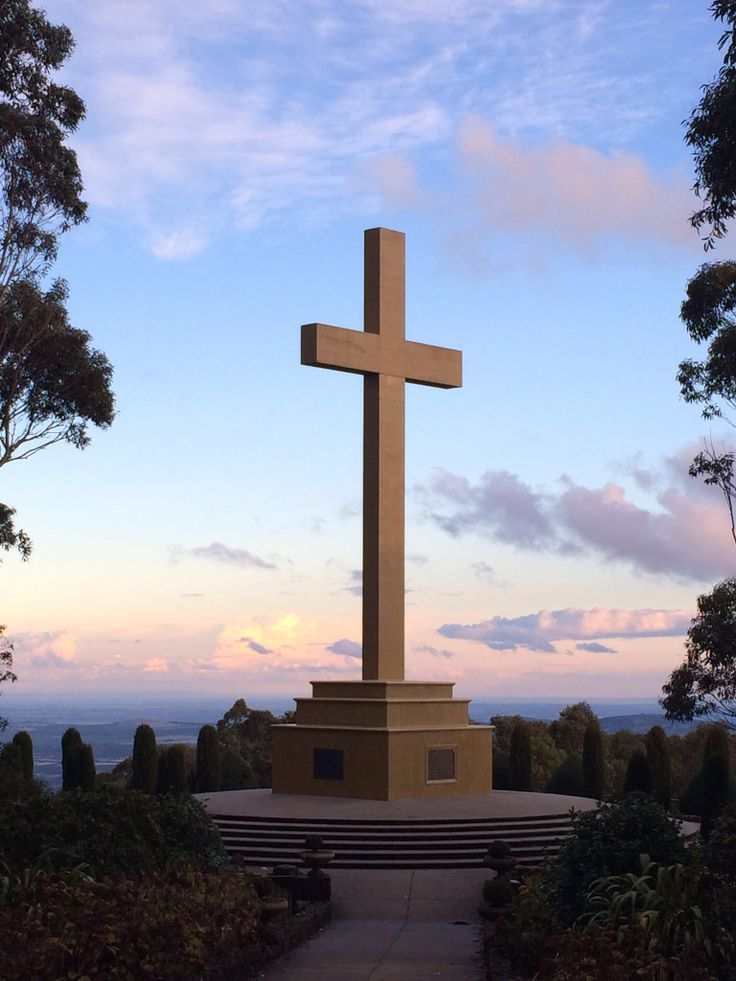 Sunset at the monument on Mt. Macedon, Victoria. Stunning sky at a fabulous monument to our fallen servicemen.