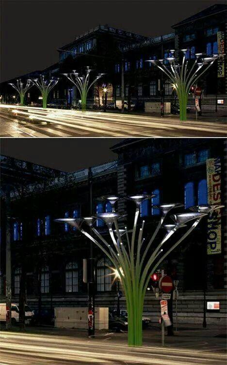 Solar trees in Vienna, Austria