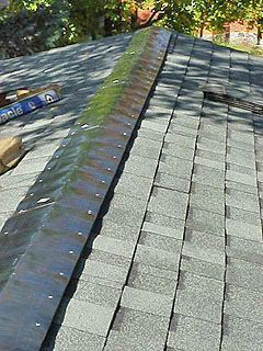Ridge vent after installation, before installing cap shingles.