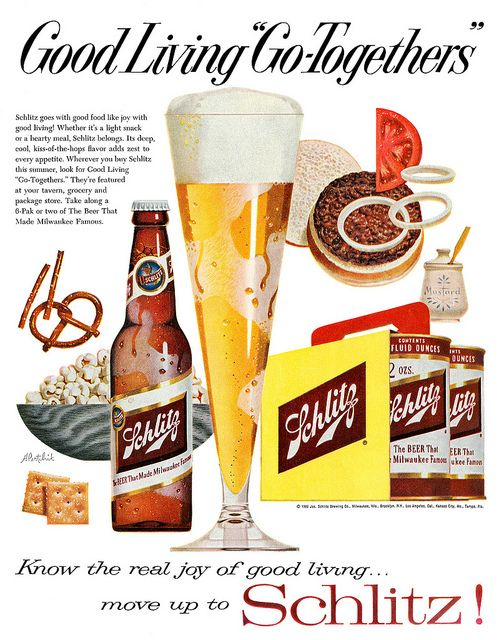 Schlitz Beer ad from The Saturday Evening Post, August 6, 1960.