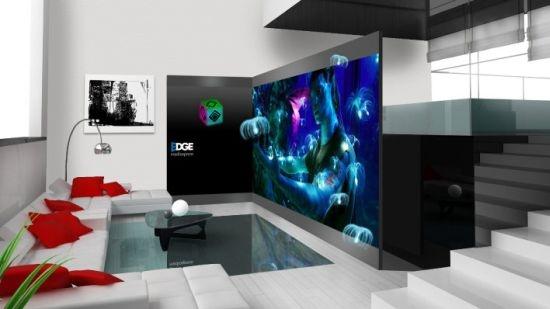 Espaço de mídia engloba tecnologia 3D para entretenimento doméstico com qualidade.