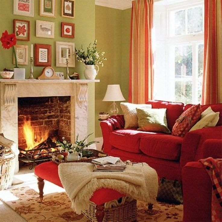 Living Room Ideas Red And Green: Pin By Ericka Youngquist On My House