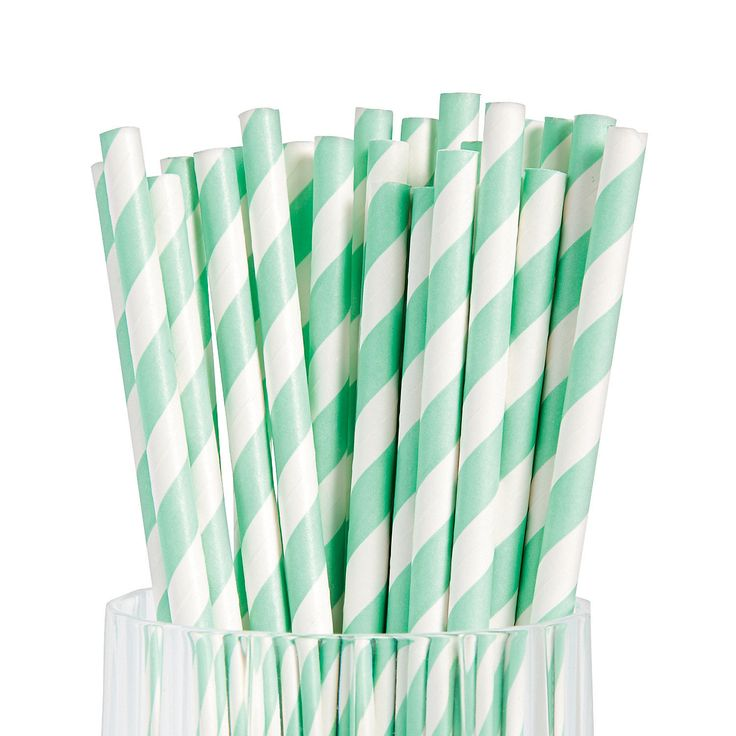 Mint+Striped+Paper+Straws+-+OrientalTrading.com