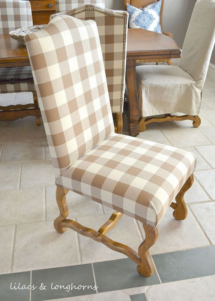how to reupholster a chair the check large prints and rockers. Black Bedroom Furniture Sets. Home Design Ideas