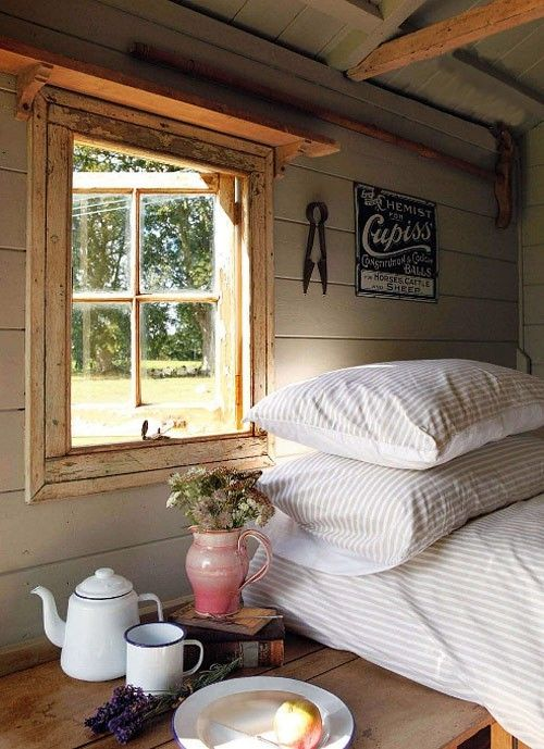 Love The Time Worn Wood And Simple Furnishings In This Wonderful Country  Chic Bedroom.