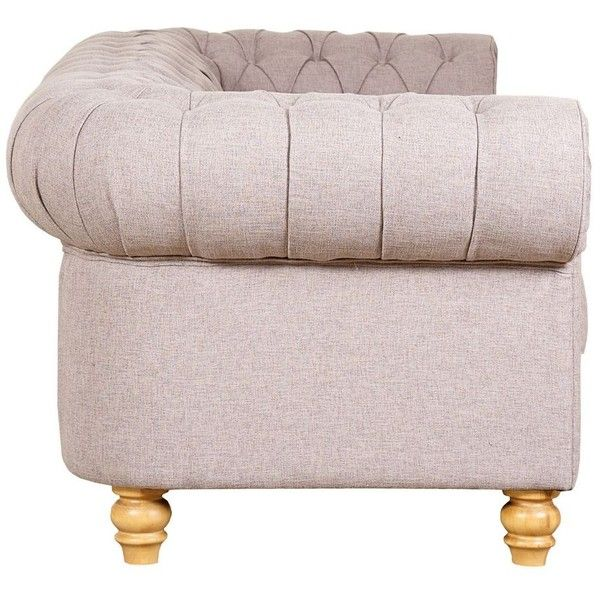 Debenhams Large linen effect 'Chesterfield' sofa (4,065 SAR) ❤ liked on Polyvore featuring home, furniture, sofas, linen furniture, chesterfield sofa, linen sofas, chesterfield furniture and chesterfield style sofa