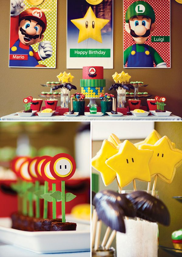 Power Up! Super Mario Brothers Birthday Party Ideas!