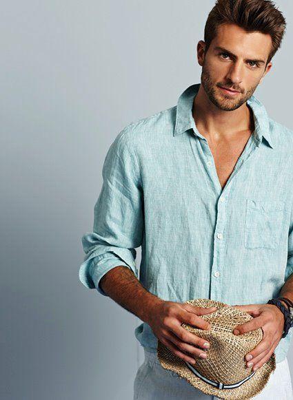 Best 25  Mens linen shirts ideas on Pinterest
