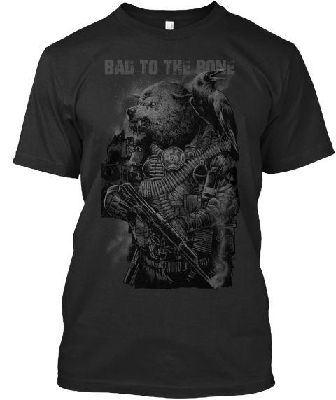Original Toxic Skull M/F   Fierce Black T-Shirt Front