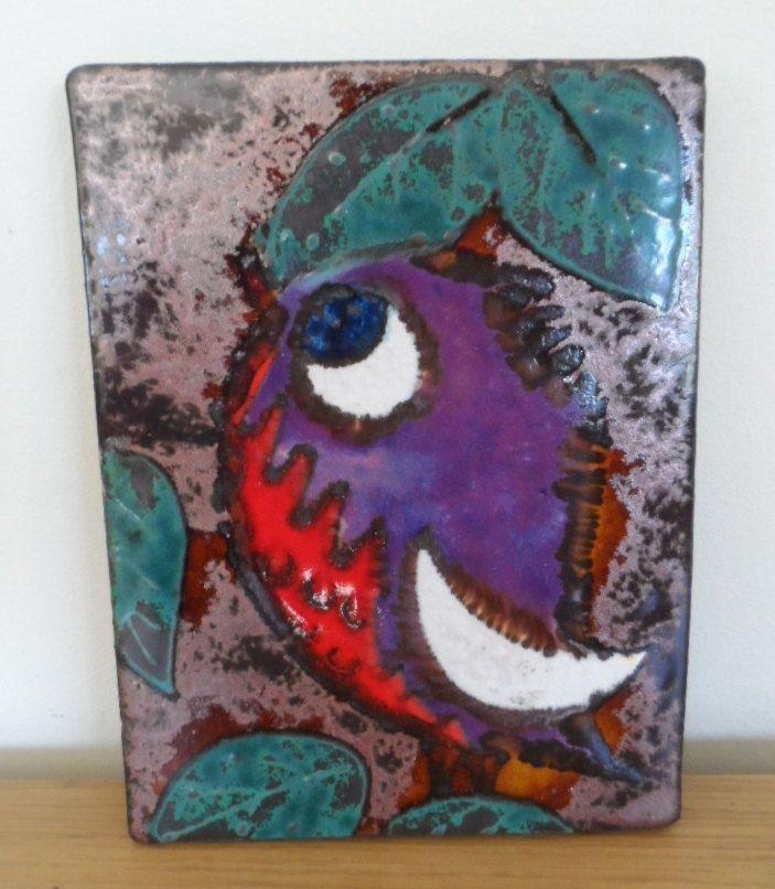 Fabulous Vintage Ruscha Wall Tile of Cute Little Bird (1960) by WoodstockStudio on Etsy