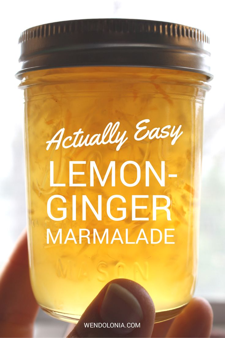 Actually Easy Lemon Ginger Marmalade