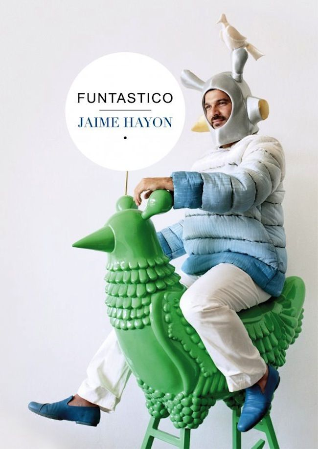 Artist Jamie Hayon rides Green Chicken, a piece included in Funtastico (October 13, 2013 to March 30, 2014) at the Groninger Museum in Groningen, the Netherlands. All images courtesy of the artist and the museum.
