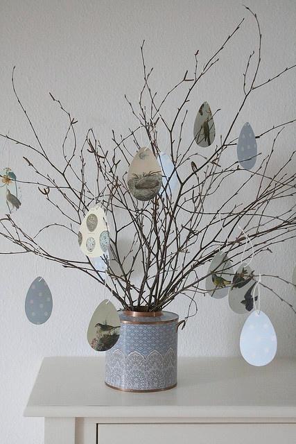 easter. Har lyst til å lage et slikt tre med papiregg på sammen med min datter :)