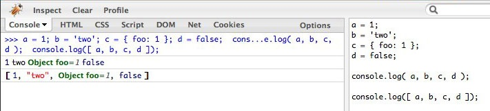 log() – A lightweight wrapper for console.log « Paul Irish