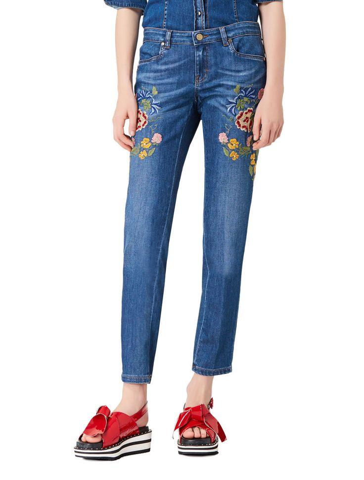 Jeans ricamati, blue jeans - iBlues SPEDIZIONE GRATUITA