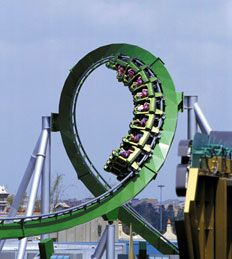 Universal Studios - Florida...The Incredible Hulk Roller Coaster! Wee!! A thrilling ride!!!