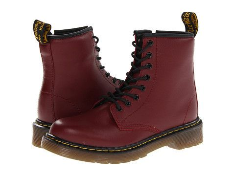 Dr. Martens: Kids Delaney Boot Little Kid/Big Kid (Cherry Red). Kids  BootsDoc ...