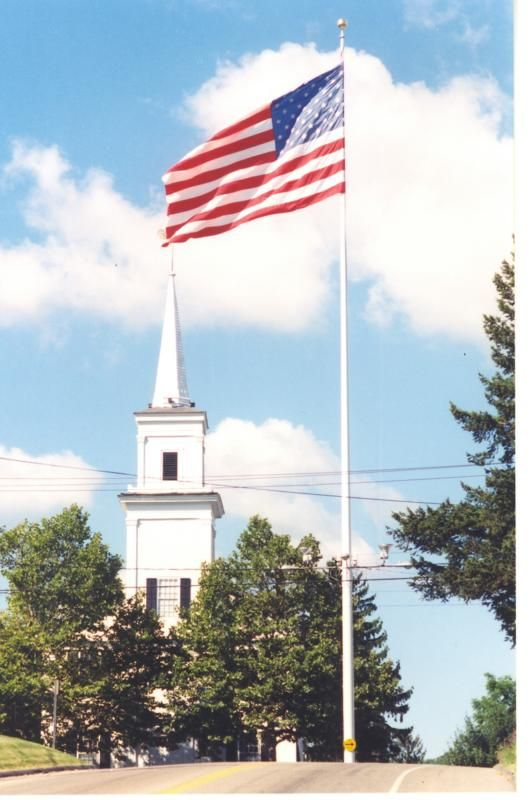 Flagpole in Newtown, CT This town will never be the same after yesterday's tragedy. Lets keep them in our prayers as they try to understand why this happened and figure out how to move forward from here. May God's grace and love penetrate their unfathomable grief. Amen