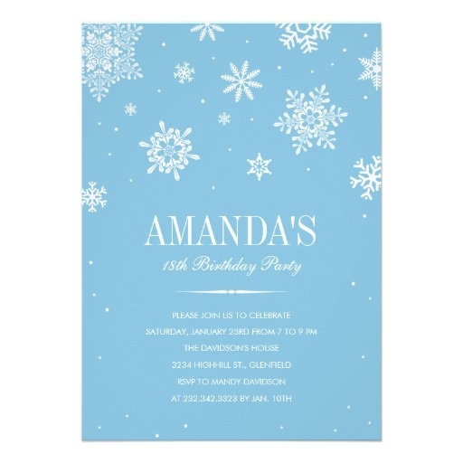 19 best winter wonderland invitation images on pinterest, Birthday invitations