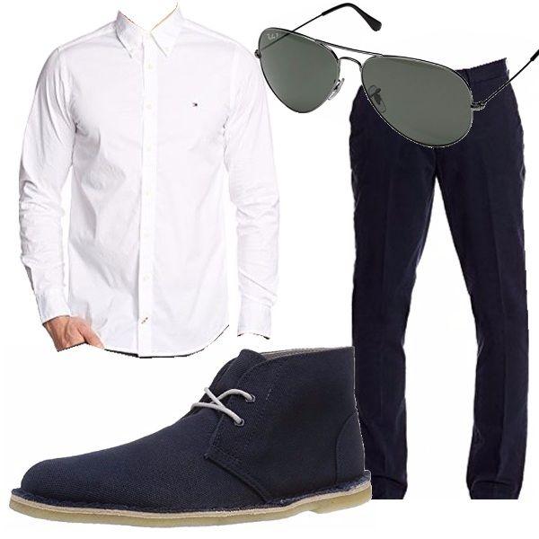 Sta arrivando l'estate e noi ovviamente non perdiamo l'occasione per sfoggiare un bellissimo outfit maschile molto semplice ma elegante