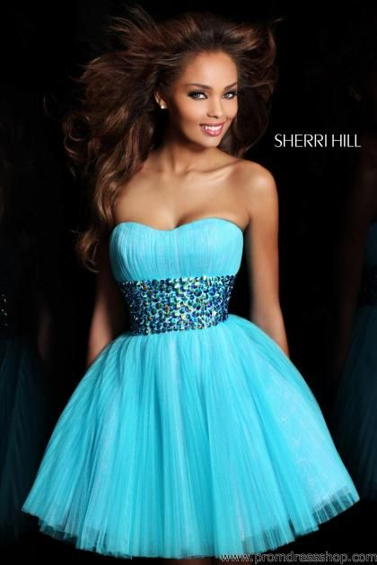 Sherri Hill Short Dress 21163 at Prom Dress Shop