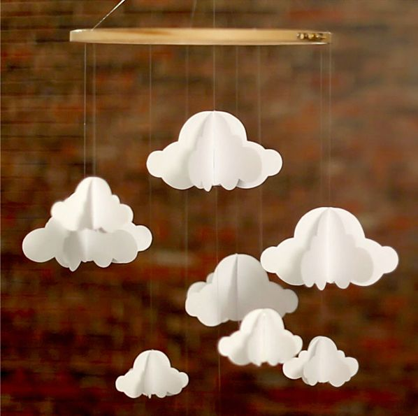 DiY : un mobile nuage http://www.monbebecheri.com/mobile-nuage/