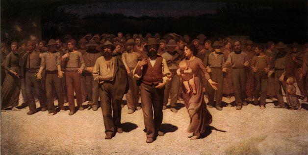 Pellizza da Volpedo, IL QUARTO STATO, 1901, olio su tela, cm. 293x545, Civica Galleria d'Arte Moderna, Milano