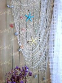 Wish | Big Fishing Net Decoration Home Decoration Wall Hangings Fun The Mediterranean Sea style Wall Stickers
