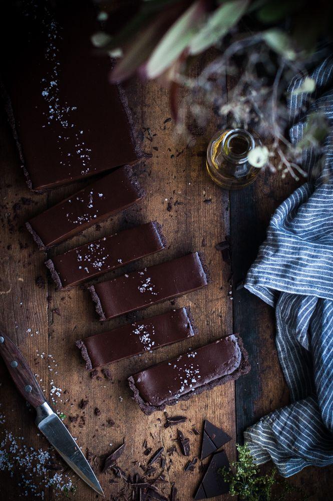 Chocolate Earl Grey Truffle Tart + Sea Salt & Olive Oil