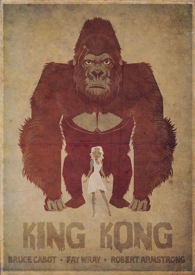 My King Kong poster for the guys at Three Barrels!