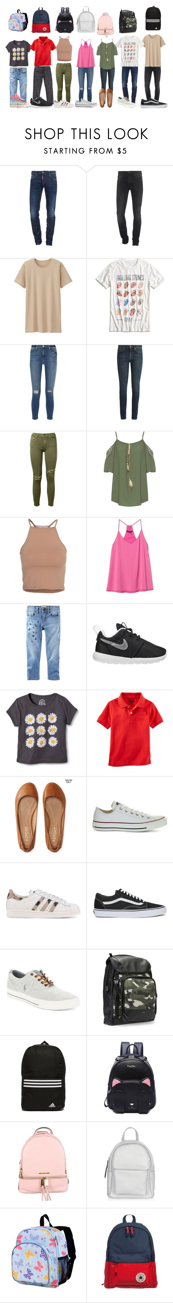 """""""School"""" by rawr-rawr-dinoxx ❤ liked on Polyvore featuring Dsquared2, 7 For All Mankind, Uniqlo, Lucky Brand, Frame Denim, Yves Saint Laurent, Current/Elliott, WearAll, NLY Trend and Banana Republic"""