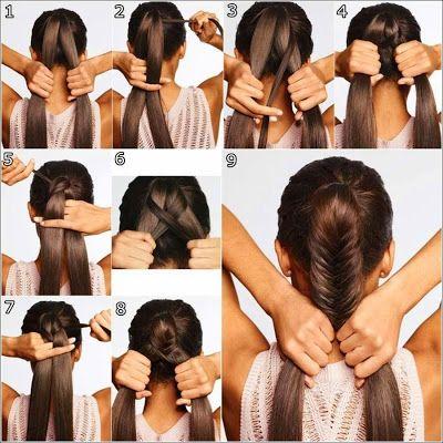 Fish Tail Braid - How to Braid Hair. http://whatwomenloves.blogspot.com/2014/11/fish-tail-braid-how-to-braid-hair.html