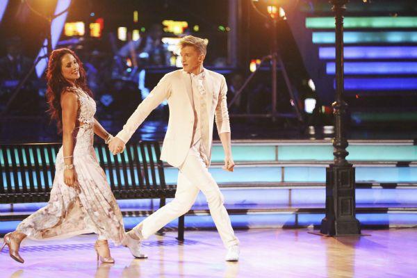 Sharna Burgess and Cody dance a foxtrot