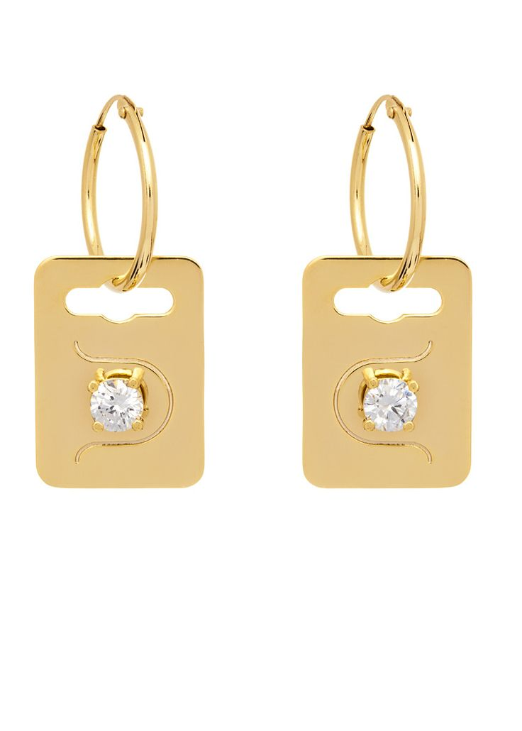 'The Bling Ring' Tag Earrings
