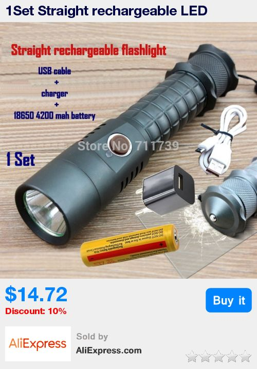 1Set Straight rechargeable LED Flashlight Self-defense Cree XML Led Torch Camping Lamps Usb cable+charger+18650 battery-X2 * Pub Date: 18:51 Apr 23 2017
