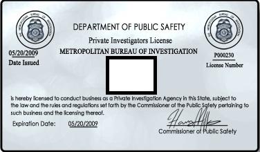 private-detective-license: Private Detective License, Pi Gear, Character Inspiration, Private Investigator S, Investigator S License