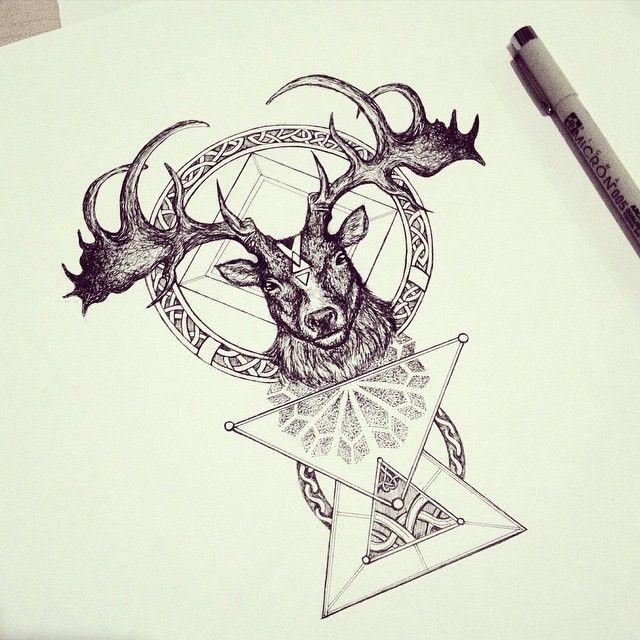 Irish deer ~ Finished piece :) ✏️