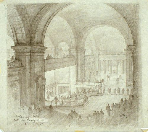 Metropolitan Museum - Hugh Ferriss' architectural sketches, 1915-1961