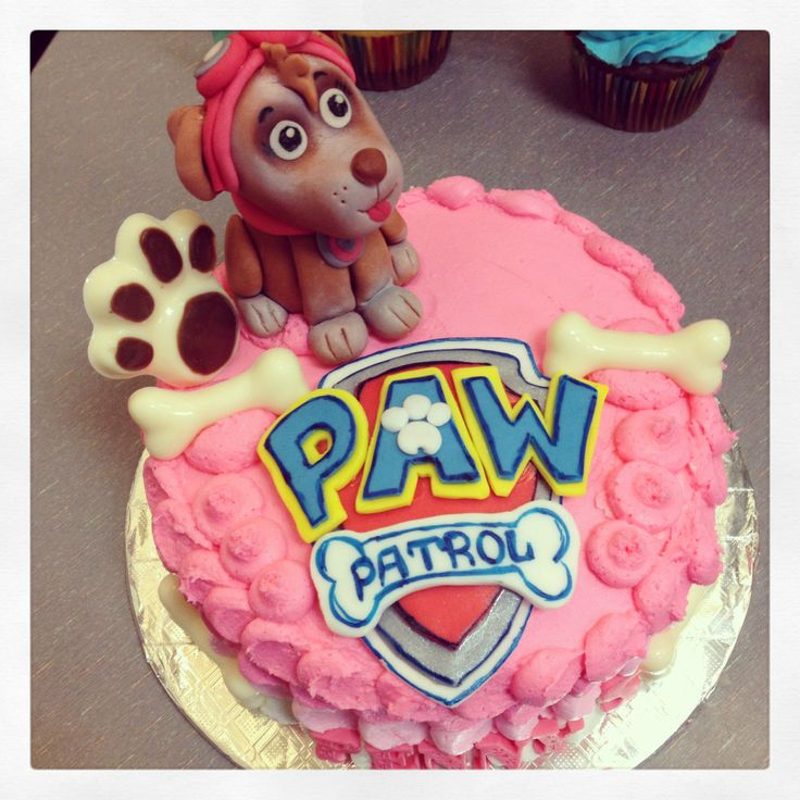 how to make paw print on cake