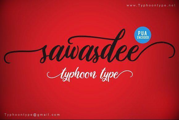Sawasdee Font Vintage Fonts Retro Font App Design Inspiration