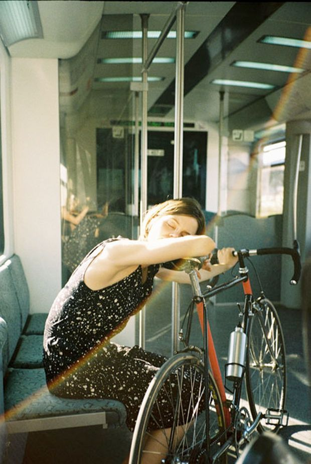 "This is taken from a lovely photo story of a girl and her bike, ""My Wonderful Bike Partner"" by Katarina Soskic. Taken in Berlin, this story reminds me of my"